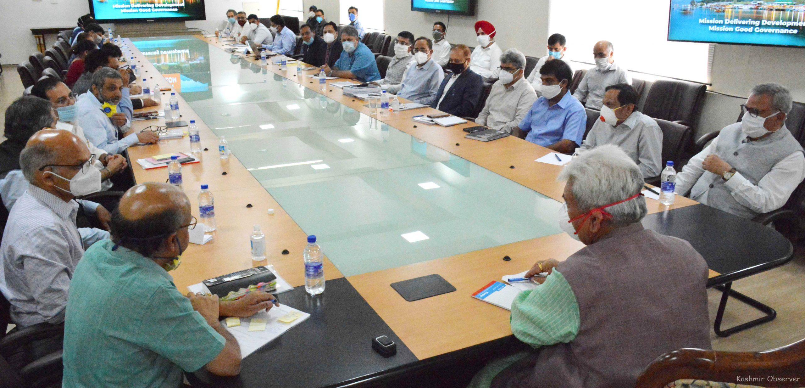 LG Stresses On Zero Tolerance For Corruption in J&K